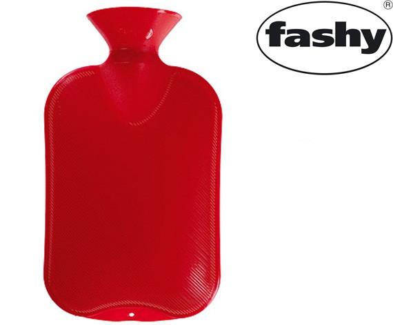 Wärmflasche 2.0l Halblamelle rot 6442