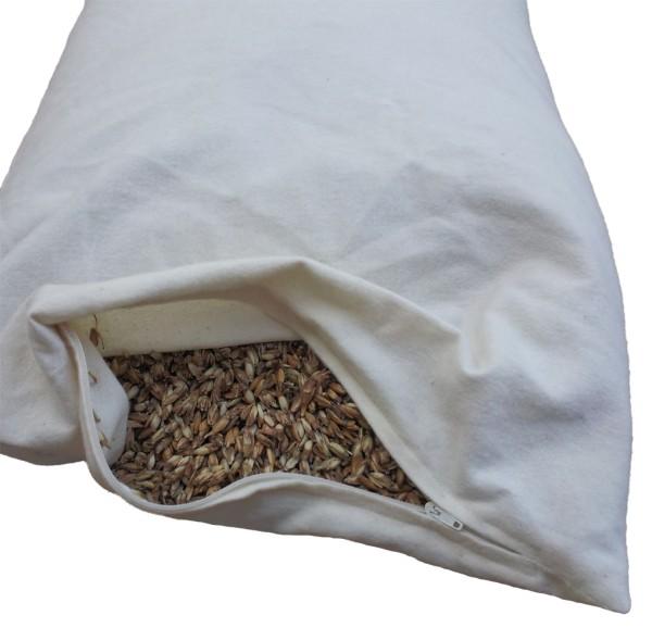 Bio Dinkelspelzkissen 40x80cm | direkt befüllt