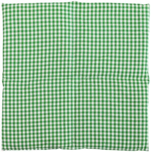 Bauch Wärmekissen 4-Kammer 40x40cm grün-weiß