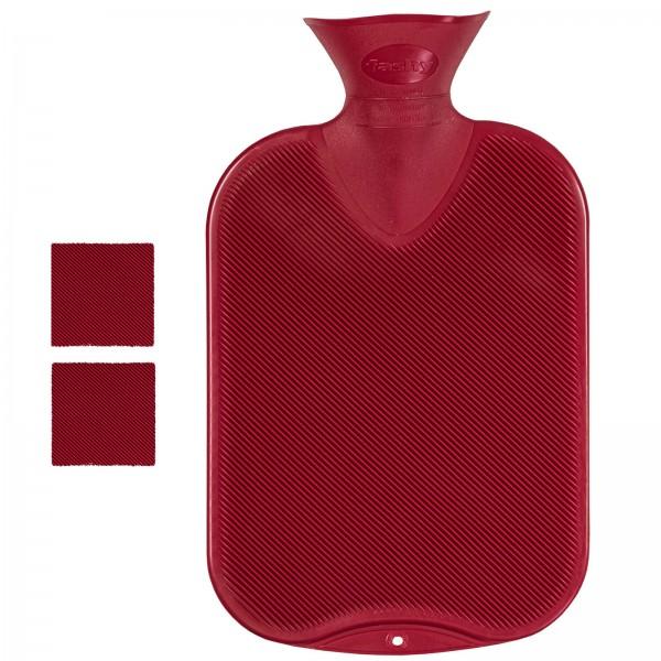 Wärmflasche Doppellamelle rot