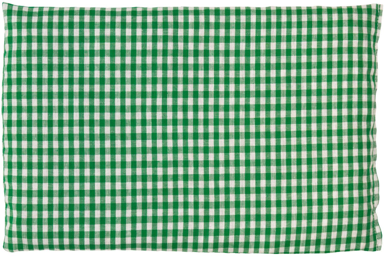 Leinsamenkissen grün-weiß