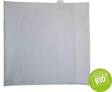 Kissenbezug BIO für 24x24cm Kissen Perkal, mit Hotelverschluss