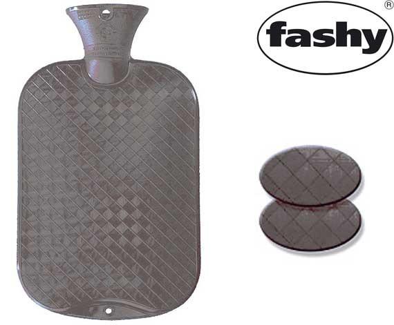 Wärmflasche 2.0l glatte Ausführung grau 6420