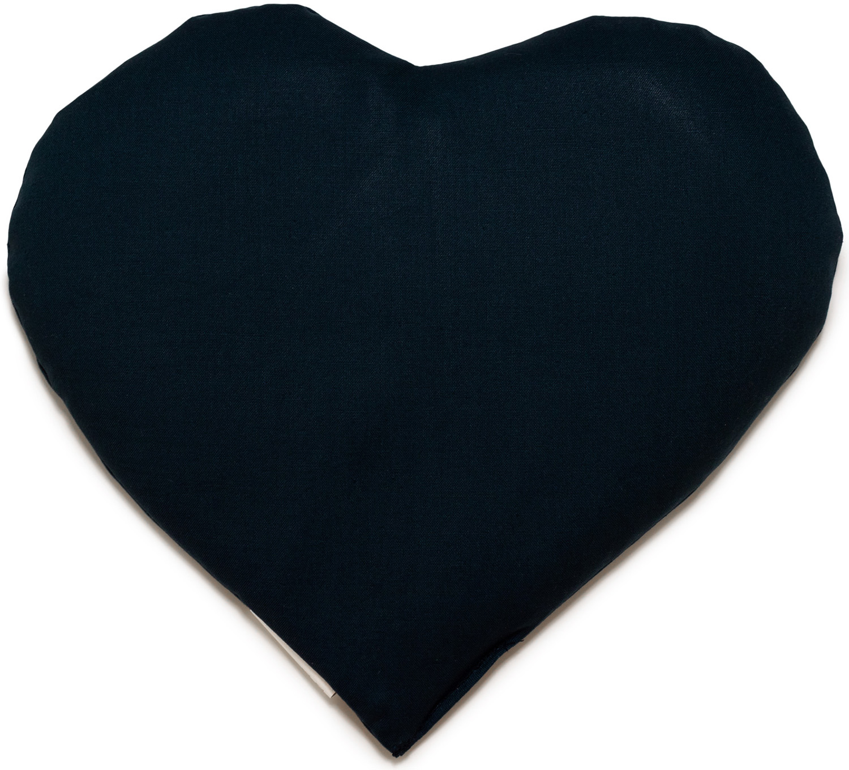 Kirschkern Herz dunkelblau