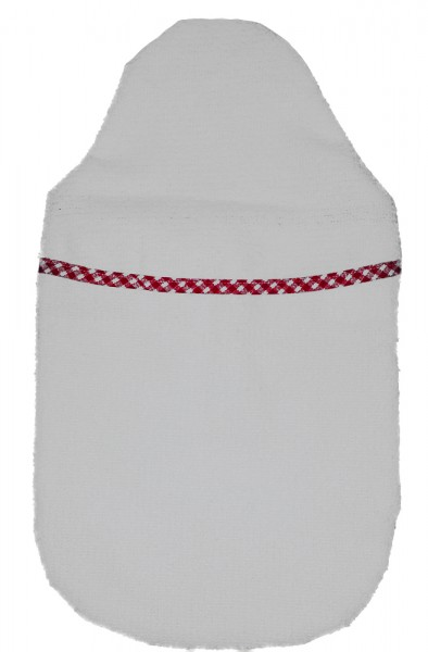Wärmflaschenbezug Kompakt Frottee rot-weiß