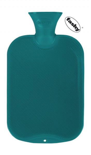 fashy Wärmflasche halblamelle petrol 2l