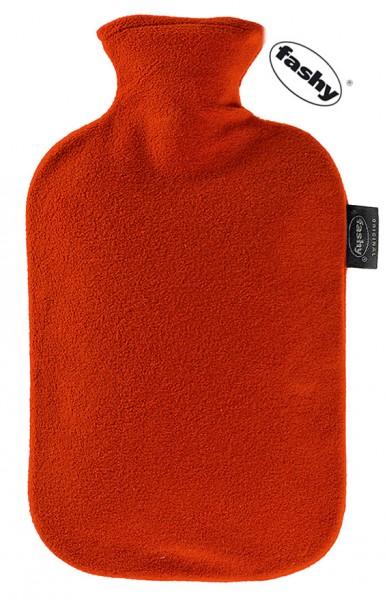 fashy Wärmflasche mit Fleece Bezug rot