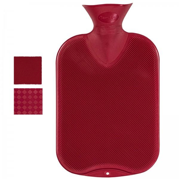 Wärmflasche rot Halblamelle