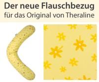 Stillkissenflauschbezug 190x38 - Blümchen