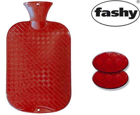 Wärmflasche 2.0l glatte Ausführung rubinrot 6420
