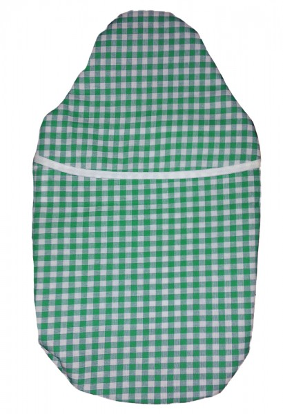 Wärmflaschenbezug Kompakt grün-weiß