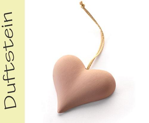 Duftsteinanhänger Herz terracotta