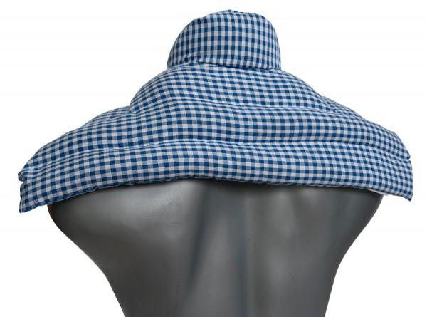 Schulter & Nackenkissen mit Kragen, blau-weiß