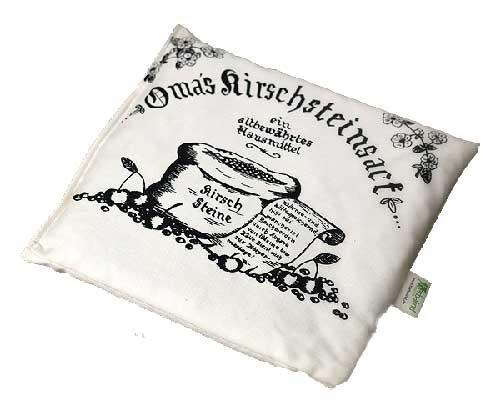 -> Omas Kirschsteinsack natur/beige 24x25cm