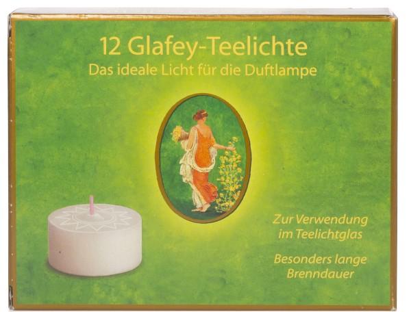 Glafey Teelichter ohne Aluhülse 12 Stück