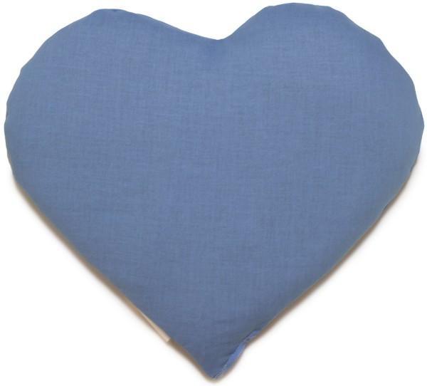 Kirschkern Herz hellblau
