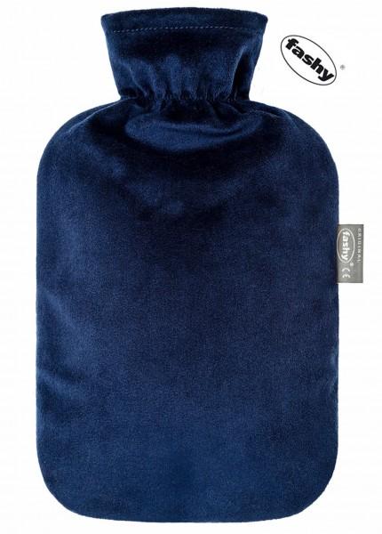 Wärmflasche mit Flauschbezug marine 2.0l 6712