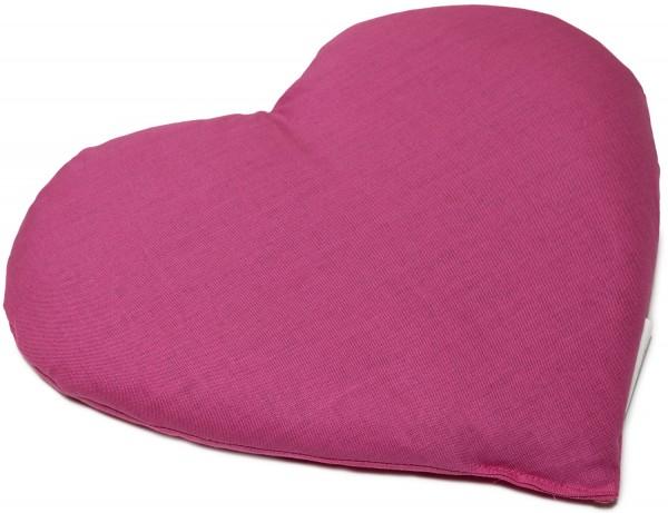 Körnerkissen Herz ca 30x25cm, pink