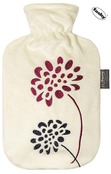 Wärmflasche mit Bezug Blumen