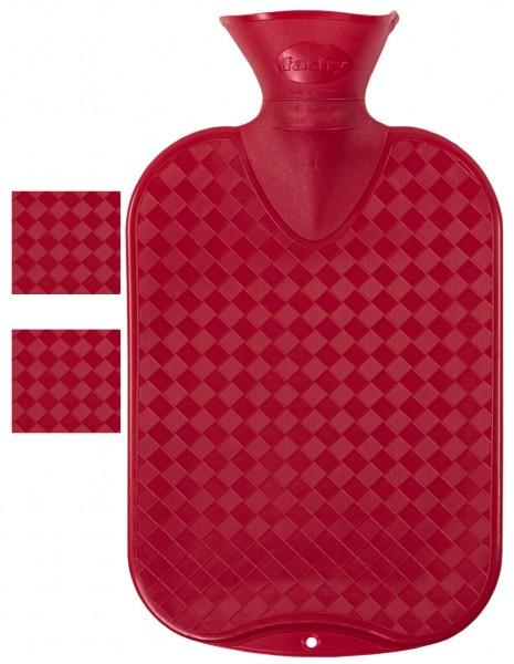 Wärmflasche glatt rot