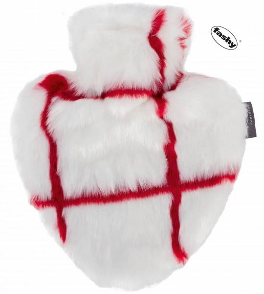 Herz-Wärmflasche mit Bezug 0.7l