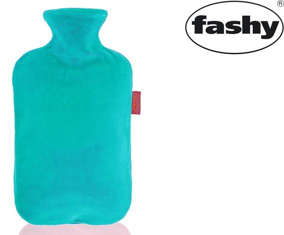 Wärmflasche mit Nicki-Velour Bezug mint 2.0l 6712