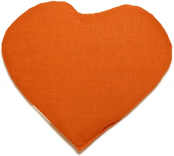 Körnerkissen Herz ca 30x25cm, orange