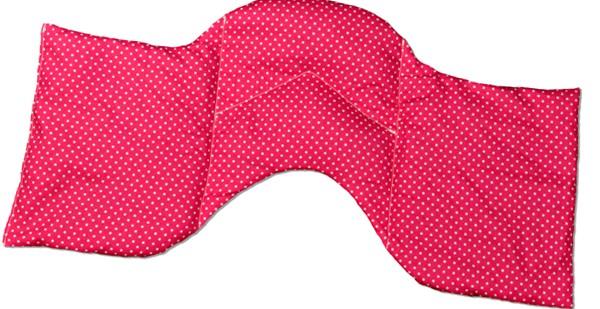 -> Schulter & Nackenkissen Traubenkerne 50x25 Punkte pink