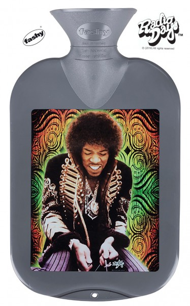 fashy Wärmflasche 2l Radio Days Hendrix grau