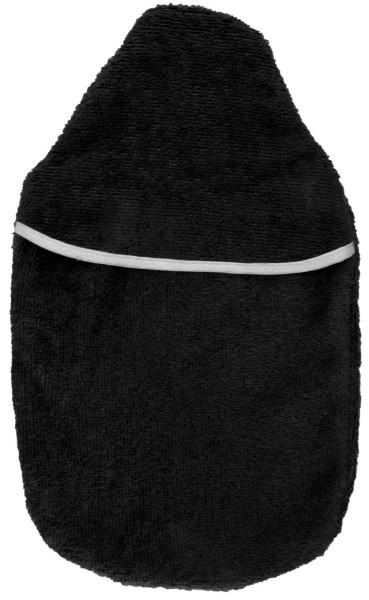 Wärmflaschenbezug Frottee schwarz