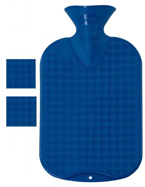 Wärmflaschen glatt blau