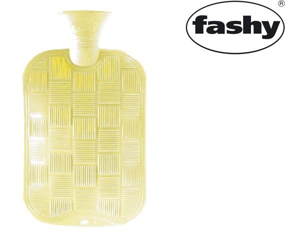 Wärmflasche 2.0l Karo-Halblamelle ecru 6436