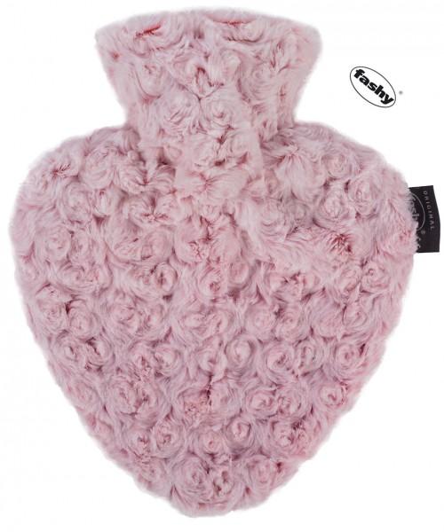 fashy Wärmflasche Herz mit Rosen Bezug 0,7l