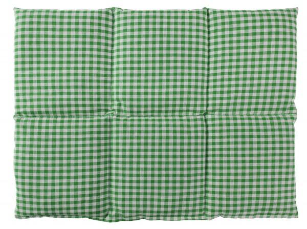 Körnerkissen 6-Kammer 40x30cm, grün-weiß