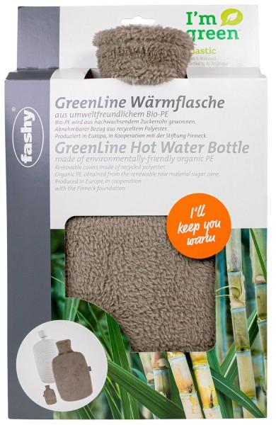 Greenline braun Bio Wärmflasche