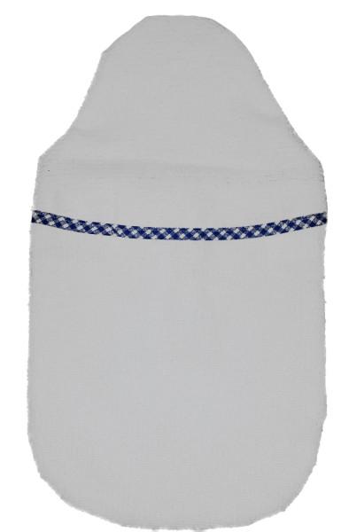 Wärmflaschenbezug Kompakt Frottee blau-weiß