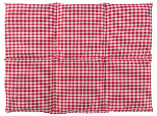 Körnerkissen 6-Kammer 40x30cm, rot-weiß