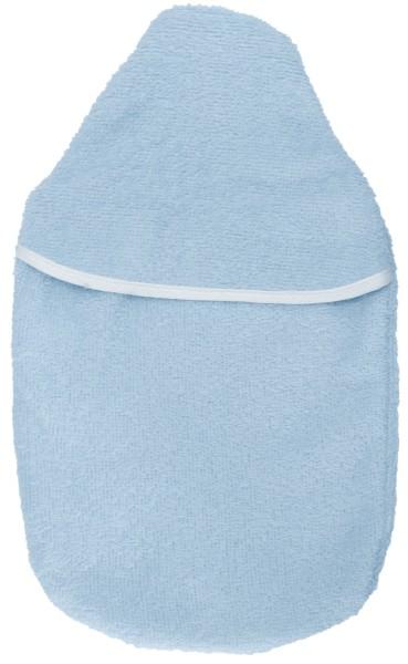 Wärmflaschenbezug Frottee hellblau