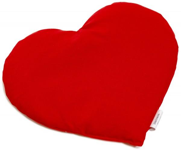 Körnerkissen Herz ca 30x25cm, Bio-Stoff rot