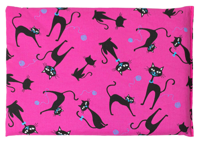 Kirschkernkissen Katzen Pink