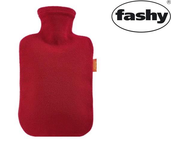 Wärmflasche mit Vlies-Bezug rot 2.0l 6530
