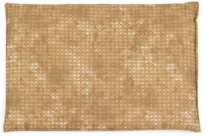 Leinsamenkissen Batik-gold