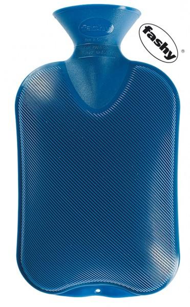 fashy Wärmflasche Doppellamelle 2l blau