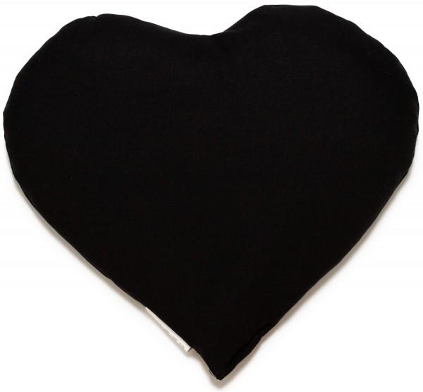 Körnerkissen Herz ca 30x25cm, schwarz