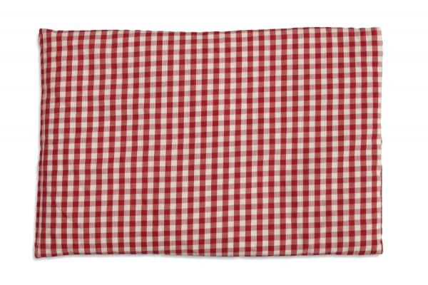 Körnerkissen Bio-Stoff rot-weiß | 30x20cm