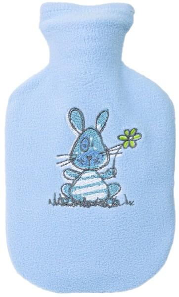Kinder-Wärmflasche hellblau-hase