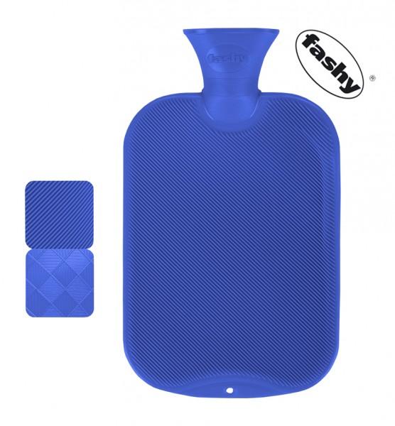 fashy Wärmflasche halblamelle blau 2l
