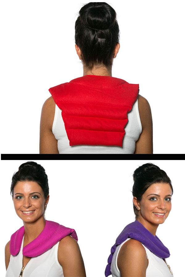 Nackenwaermekissen mit Rückenteil