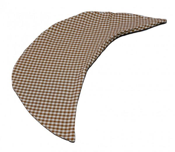 Kissenbezug Halbmond braun-weiß kariert