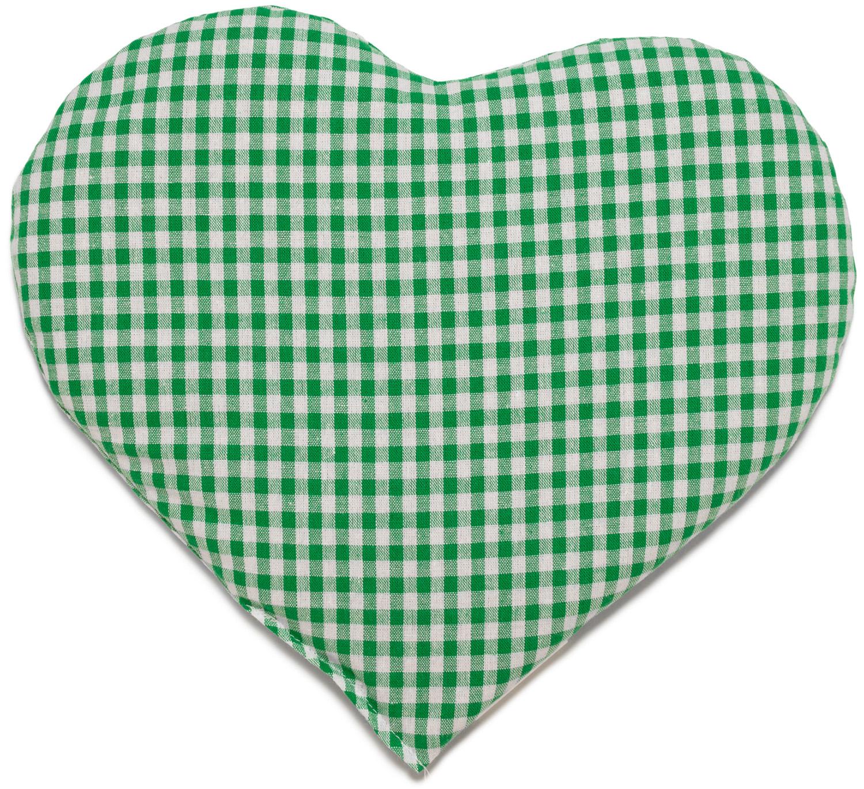 Kirschkern Herz grün-weiß
